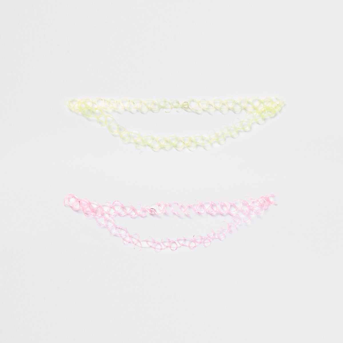 Girls neon pink plastic choker pack