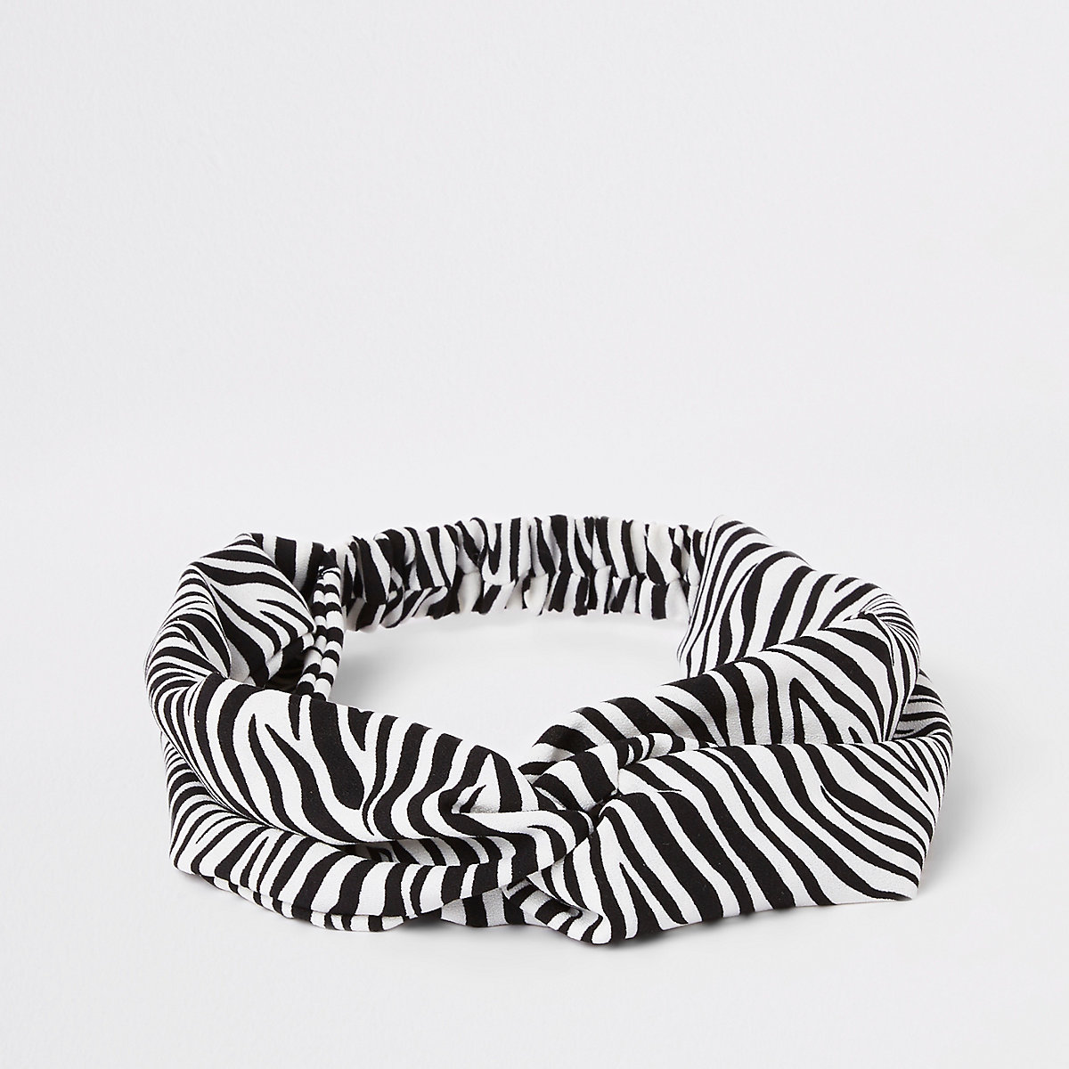 Girls black zebra head band