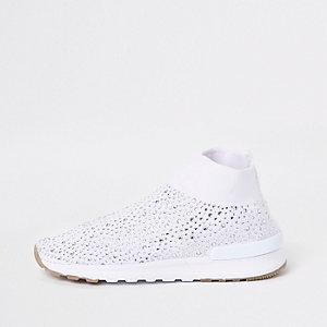 Weiße Sneaker mit Pailletten