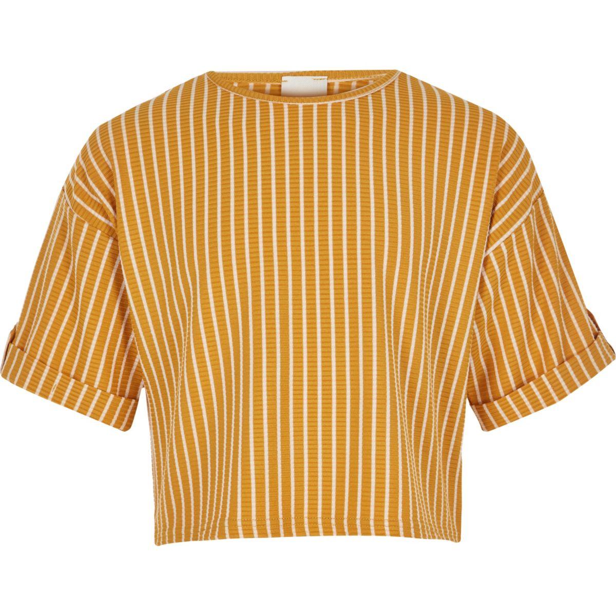 Girls yellow stripe T-shirt