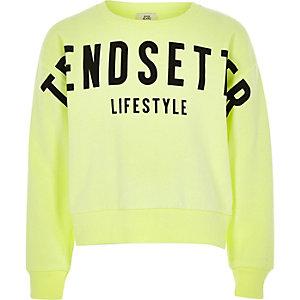 Felgroene 'Trendsetter' sweatshirt voor meisjes