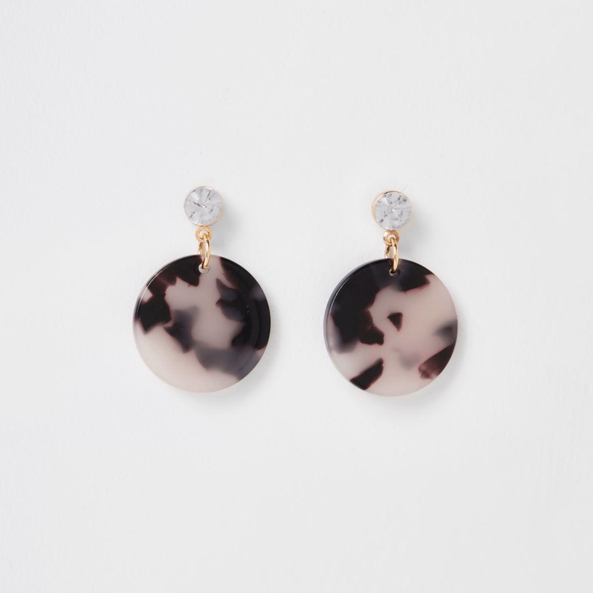 Girls gold tone leopard dangle earrings