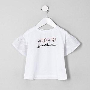 Mini - T-shirt met 'Heartbreaker'-print voor meisjes