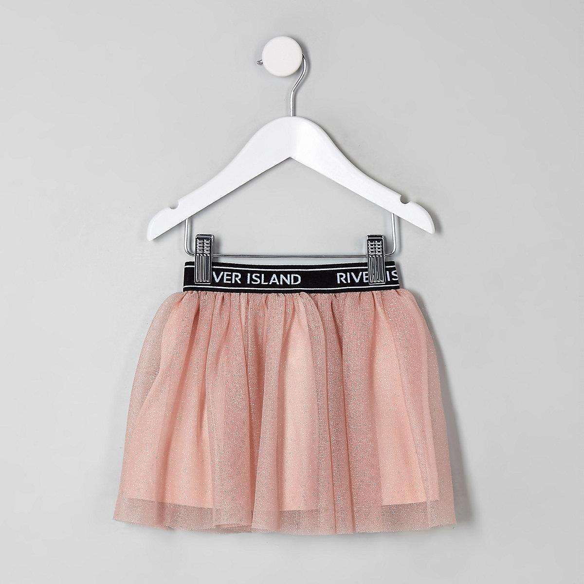 Mini girls RI Active pink glitter tutu skirt