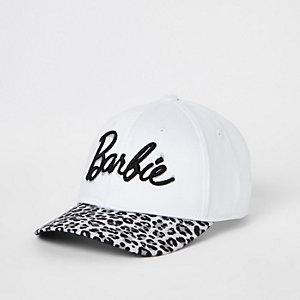 b3d853b0729 Girls white Barbie leopard print cap