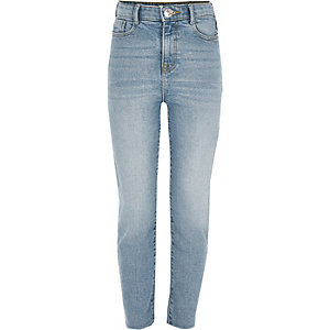 Girls blue straight leg jeans