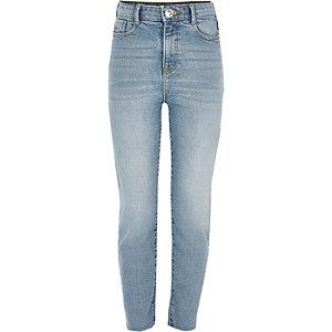 Blauwe jeans met rechte pijpen voor meisjes