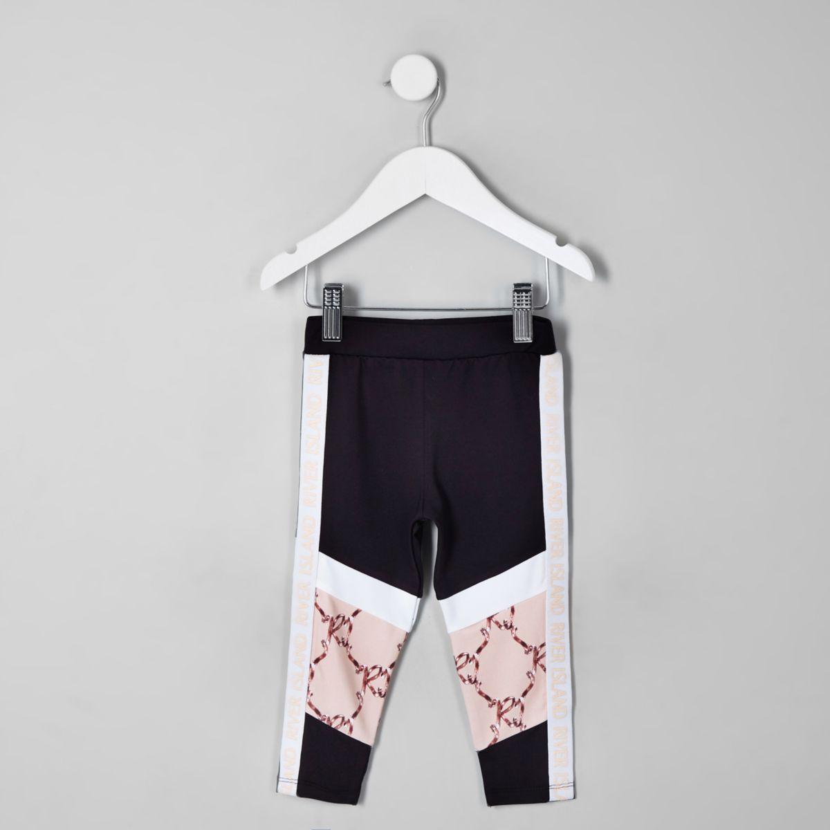 Mini girls RI Active black block leggings