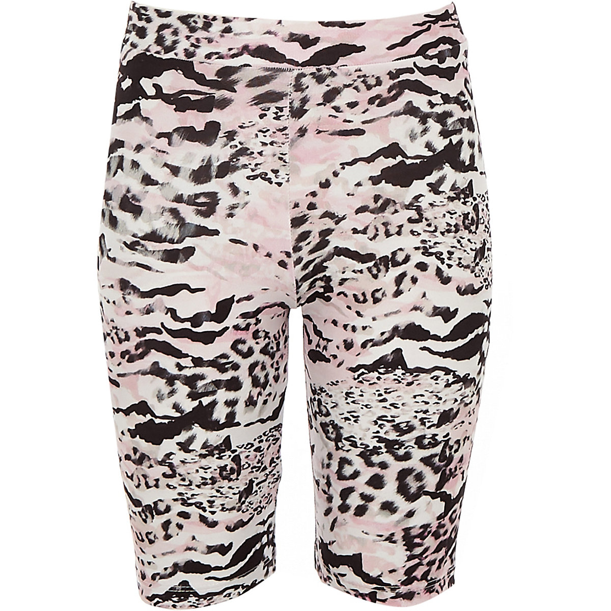 Girls pink leopard print cycling shorts