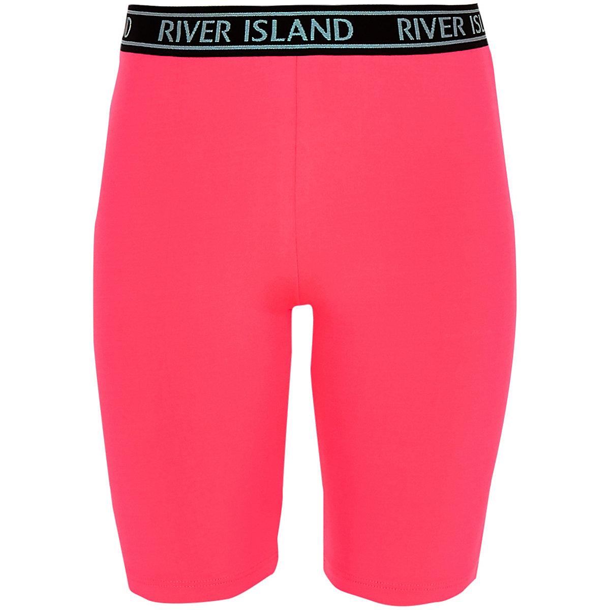 Girls neon pink RI cycling shorts