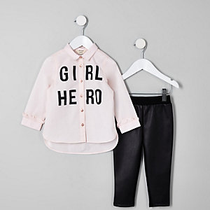 """Outfit mit Hemd """"Girl hero"""""""