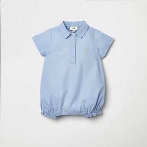 Blauwe lichtgewichte romper met RI-logo voor baby's