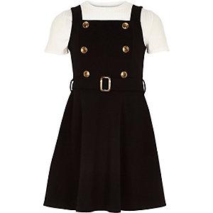 Robe chasuble 2 en 1 noire pour fille