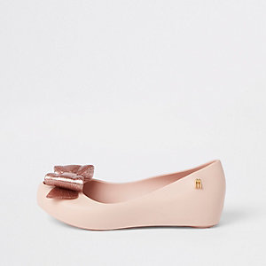 Girls pink bow Mini Mellisa ballerinas
