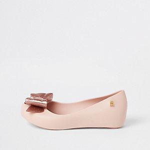 Melissa – Mini ballerines roses à nœud pour fille