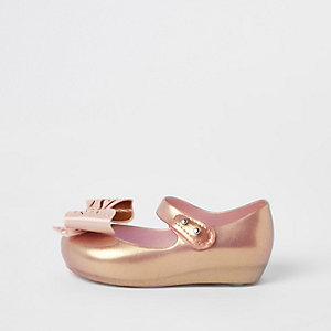 Mini girls rose gold Mini Mellisa ballerinas