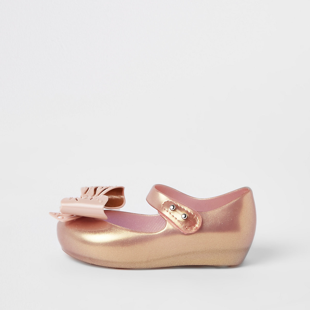 Mini girls rose gold Mini Mellisa ballerinas
