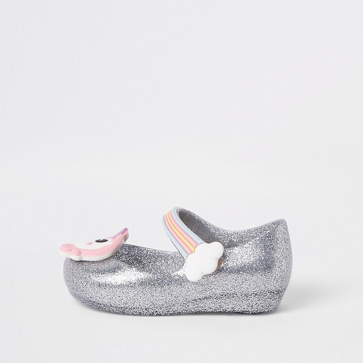 Mini girls silver mini Mellisa ballerinas
