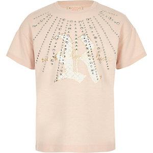 RI Active – T-shirt rose orné pour fille