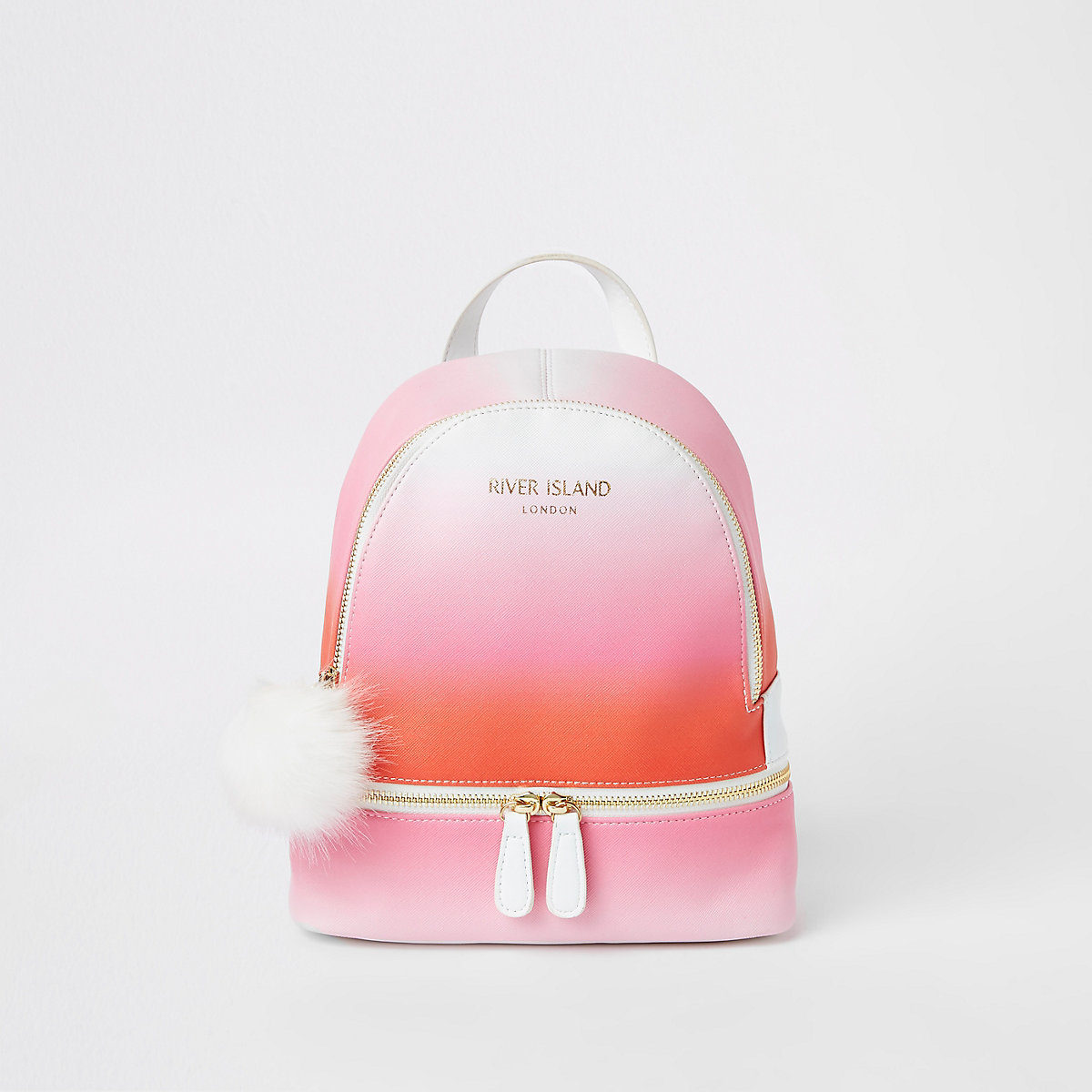 Girls Neon Pink Ombre Backpack Backpacks Bags Purses Girls