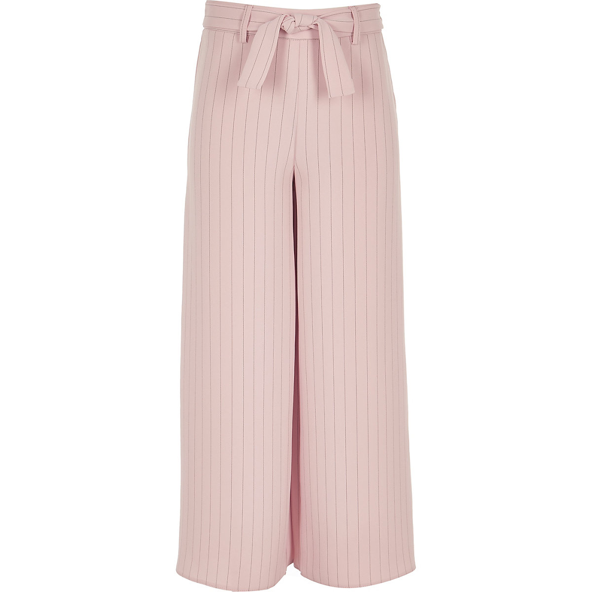 Girls pink stripe tie waist pants
