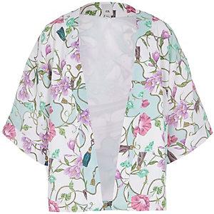 Crème kimono met print voor meisjes