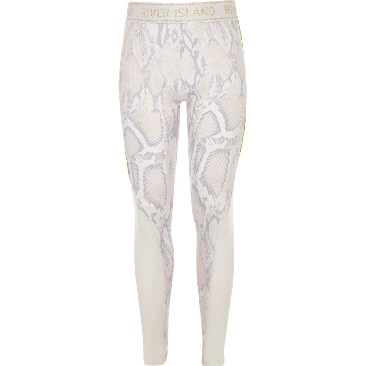 Girls RI Active white snake print leggings