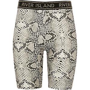 Girls leopard print RI cycling shorts