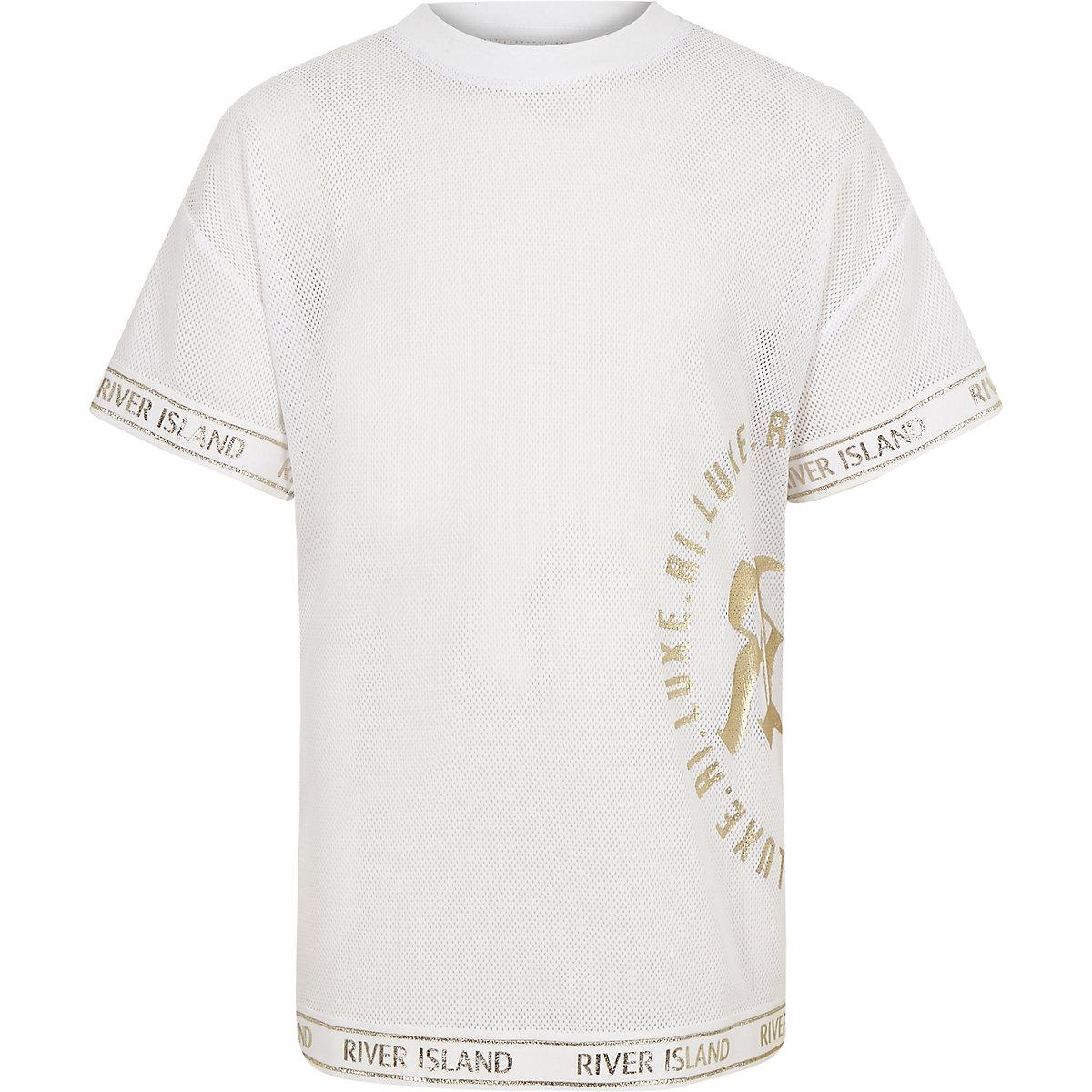 Girls RI Active long line mesh T-shirt