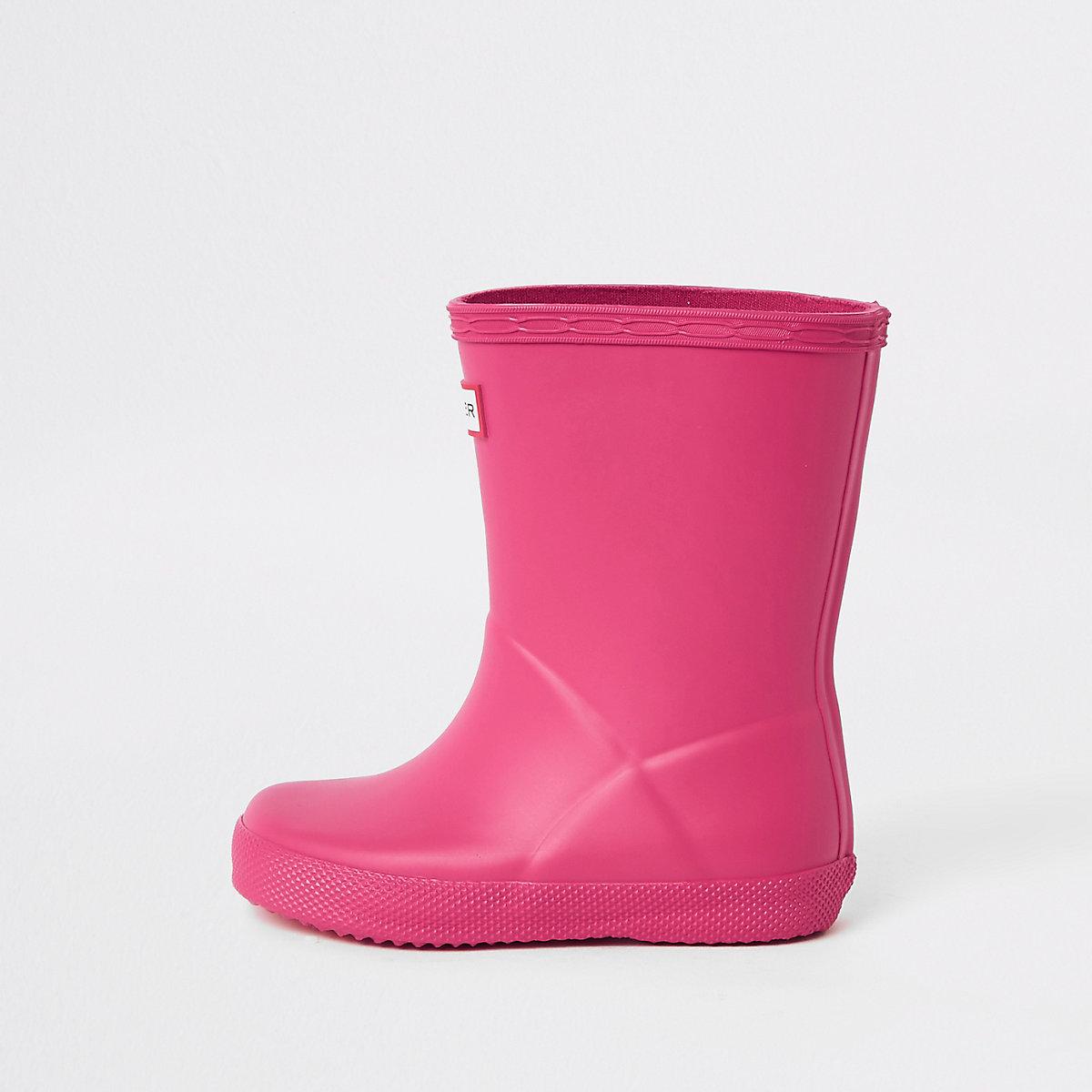 Mini kids Hunter Original First pink rubber boots