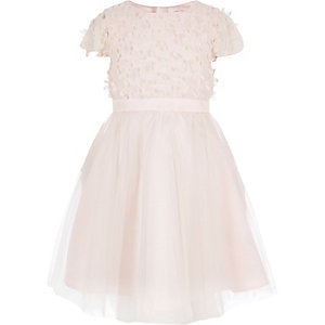 Girls Chi Chi London pink flower prom dress