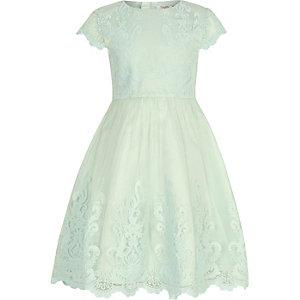 Girls Chi Chi London green Viviana dress