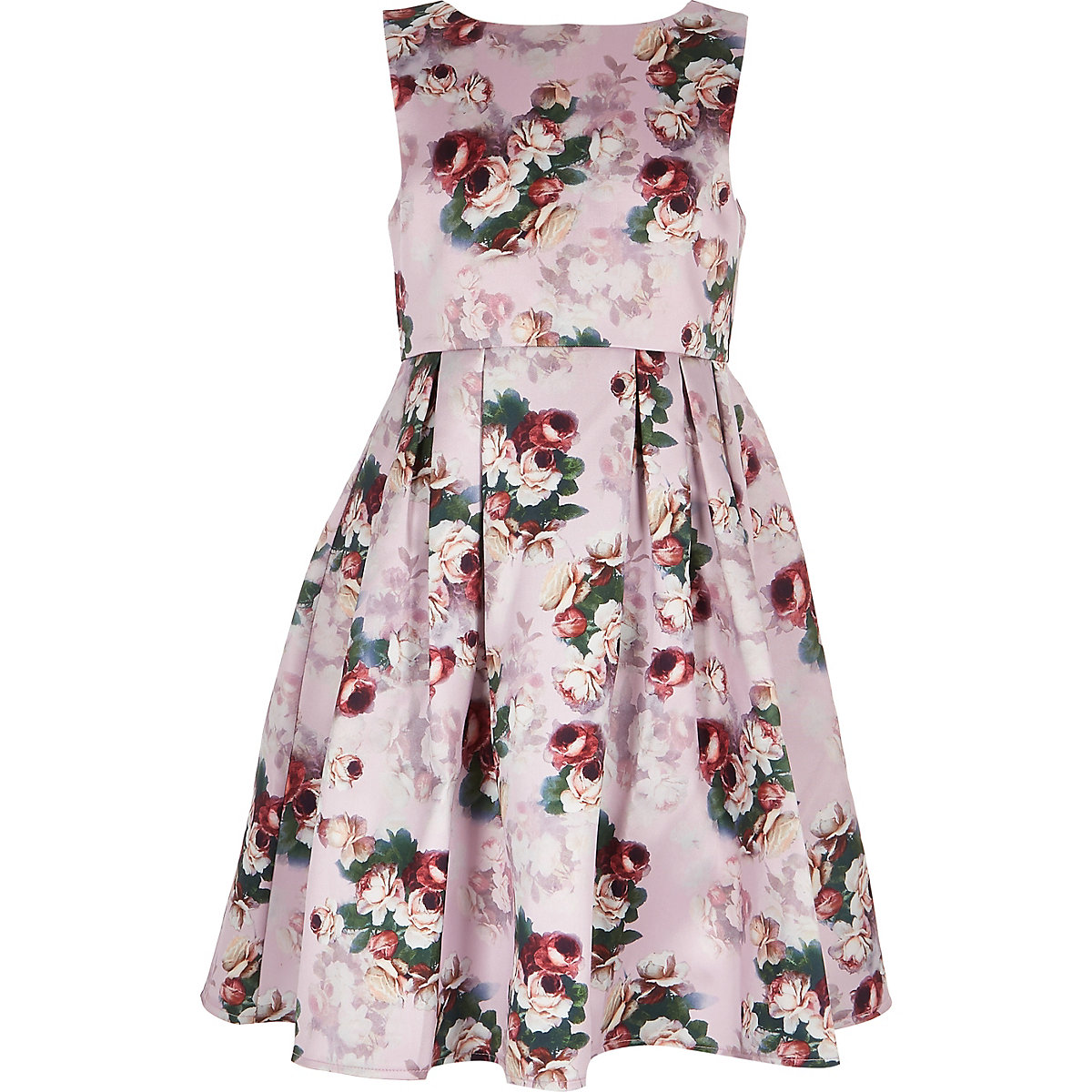 Girls Chi Chi London pink floral Ariyah dress