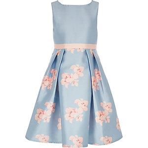 Chi Chi London - Orelia - Blauwe jurk met bloemen voor meisjes