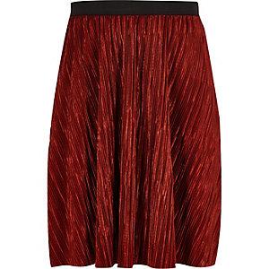Roestbruine plissé rok voor meisjes
