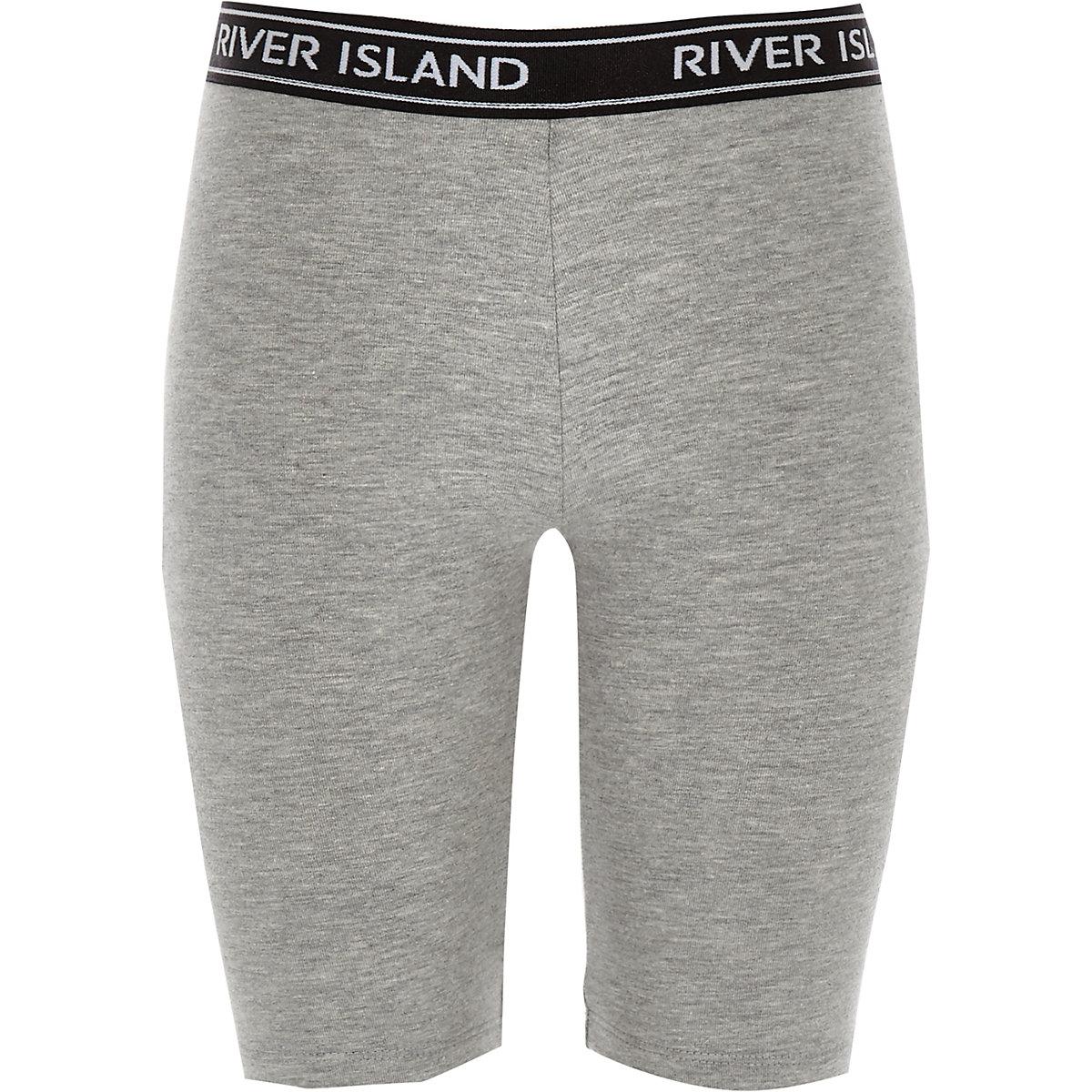 Girls grey marl cycling shorts