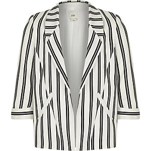 Girls black stripe blazer