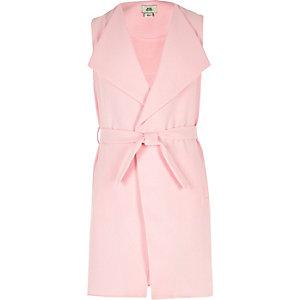 Roze mouwloze dusterjas voor meisjes
