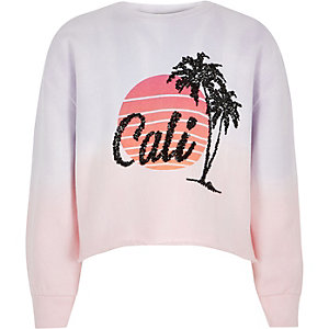 Girls pink 'Cali' sunset sweatshirt