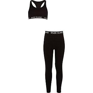Outfit met zwarte RI racertop voor meisjes
