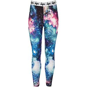 Girls black Hype space leggings