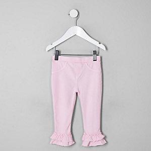 Ausgestellte Leggings in Pink