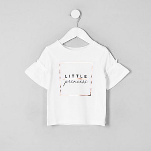 T-shirt « Little princess » blanc pour mini fille