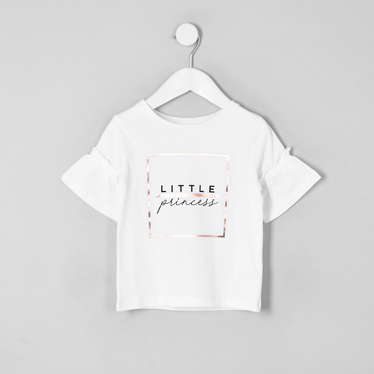 Mini girls white 'Little princess' T-shirt