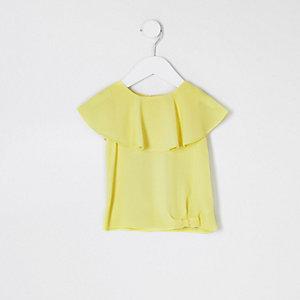 Mini girls neon yellow T-shirt