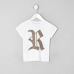 Family twinning – T-shirt blanc à logo RI pour mini fille