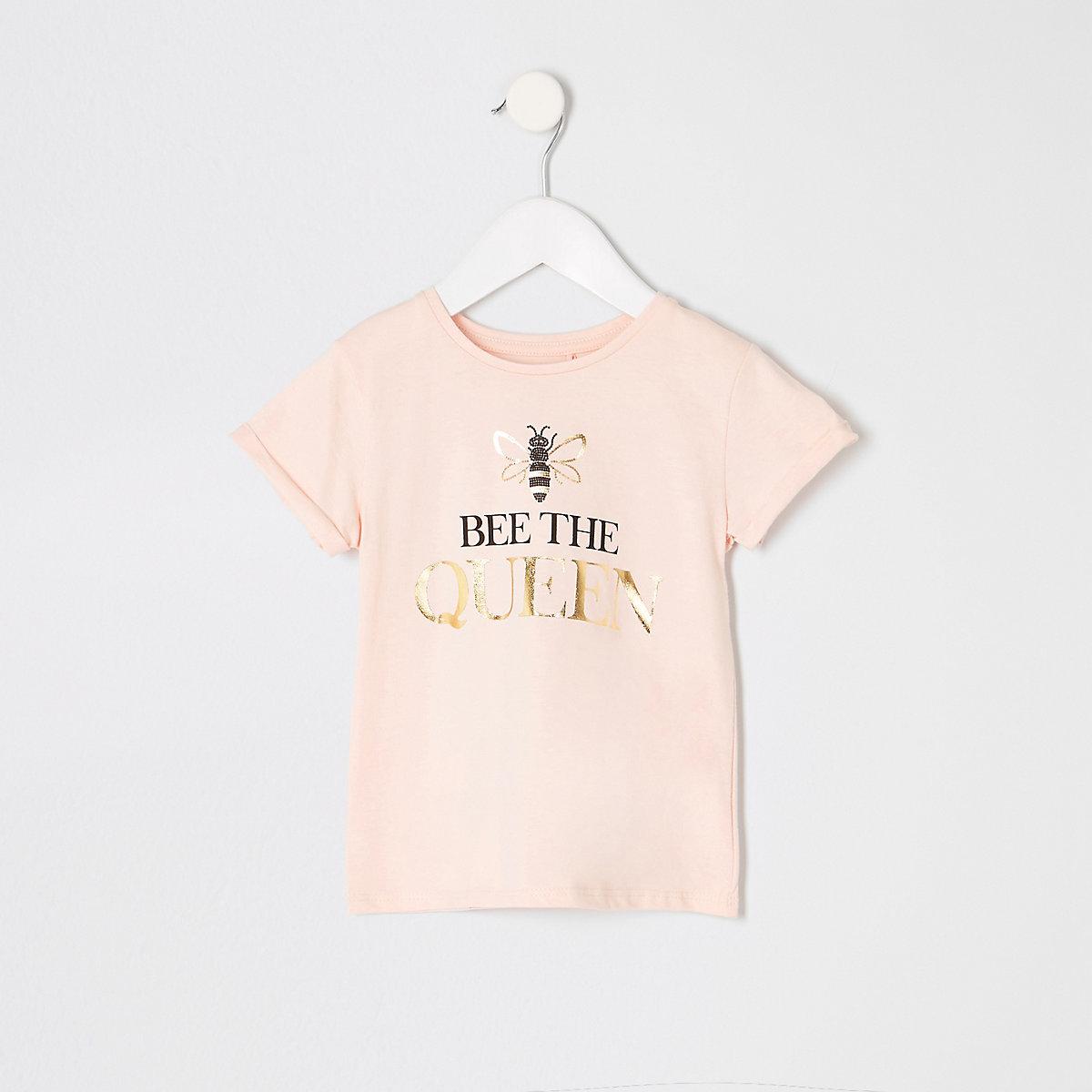 Mini girls pink 'Bee the Queen' T-shirt