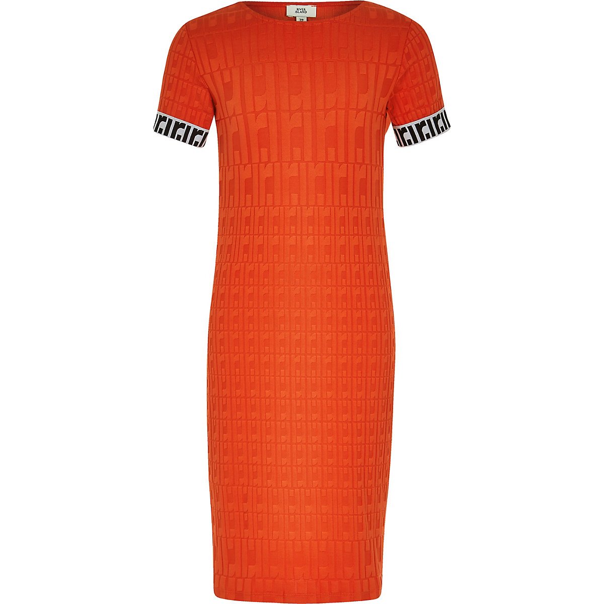 Girls red RI monogram dress