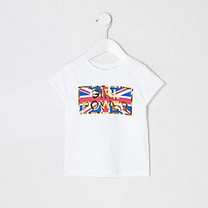 T-shirt « Girl power » mini fille