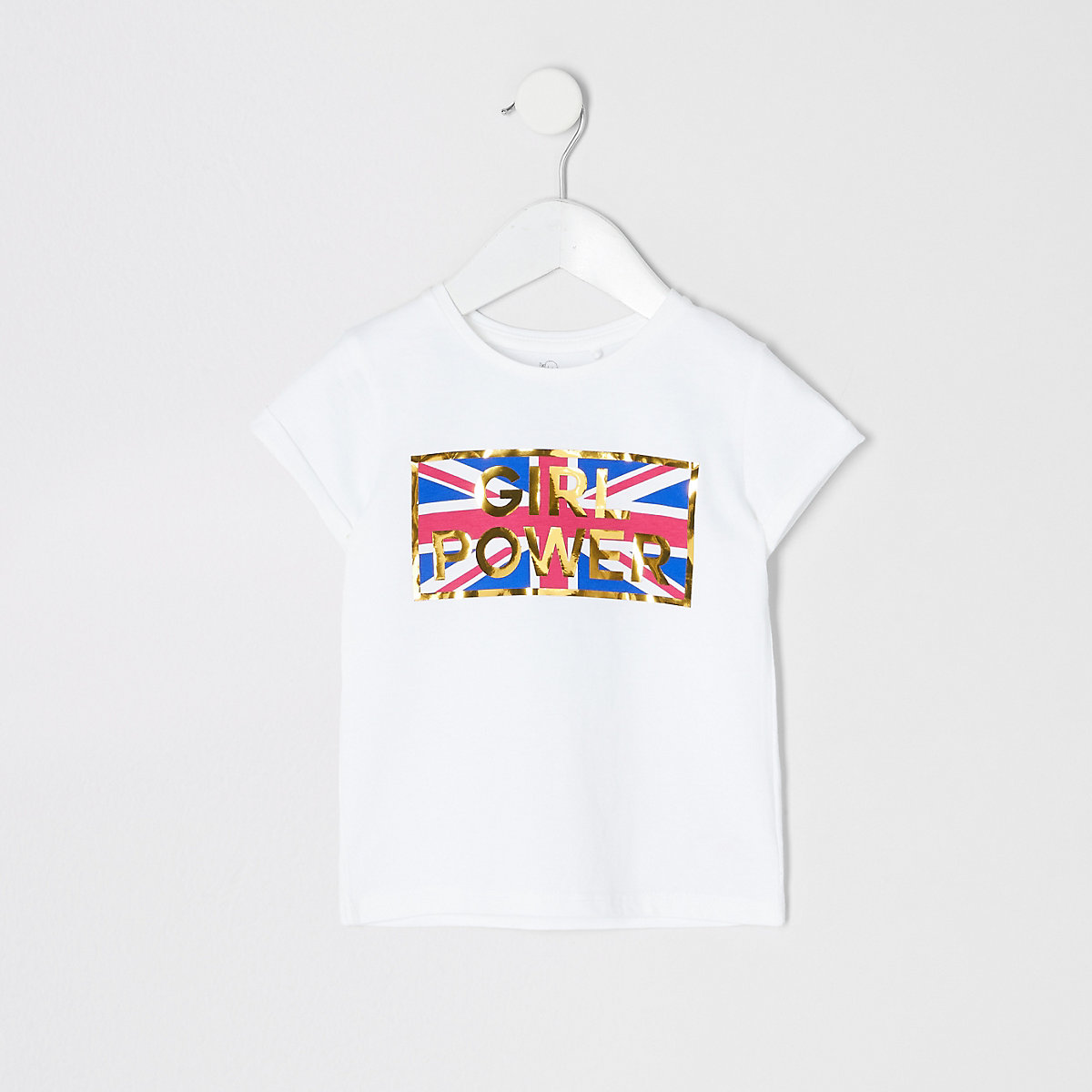 Mini girls 'Girl power' T-shirt